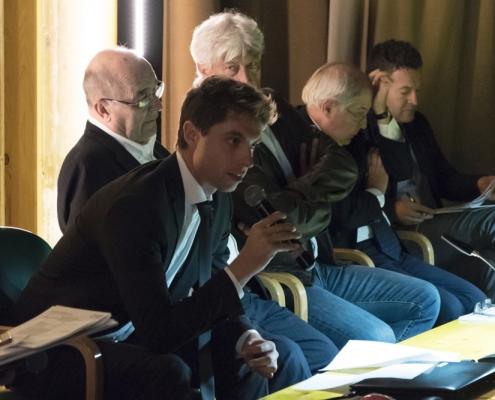 Giacomo Ponzano, Arquata Costruzioni al microfono