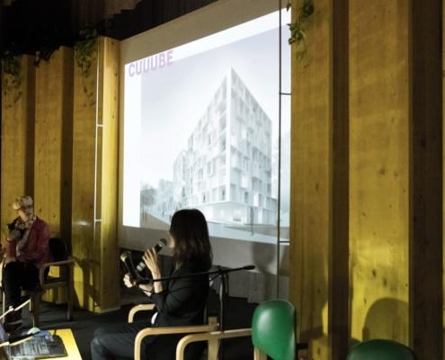 Arch. Nerma Linsberger presenta il hosuing a Vienna