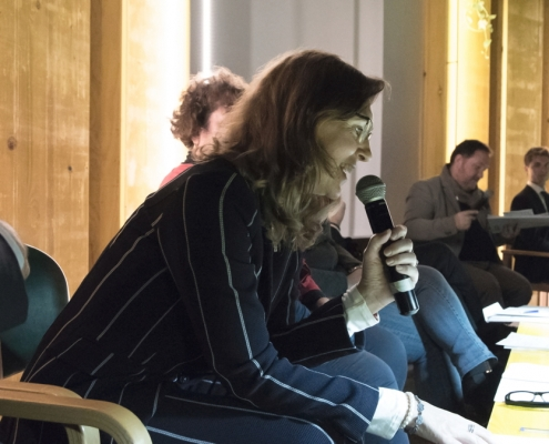 Parla Monica Ubaldeschi alla Tavola Rotonda