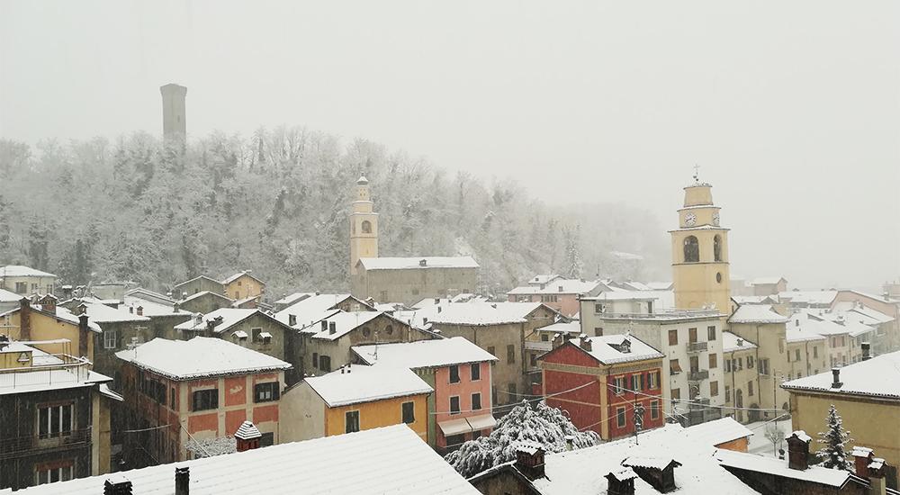 immagine di Arquata Scrivia sotto la neve
