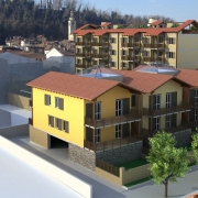 foto rendering condominio del futuro